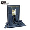 Luxury Blue Leatherette Wood Jewelry Display Stand Custom Jewelry Display Rack
