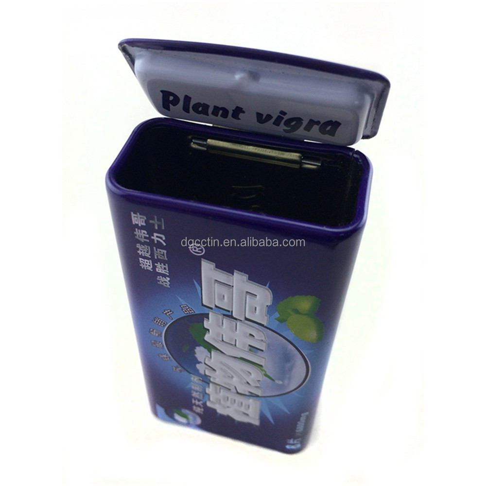 Plant Vigra Male Enhancement Pills Box Empty Tin Cantainer- 1 Tin Load 8 Pills