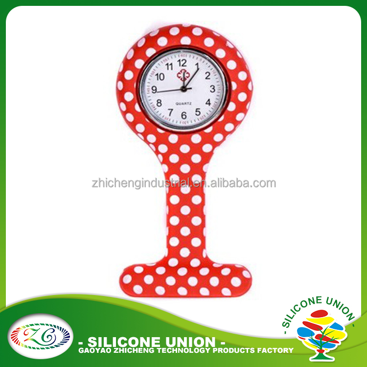 Silicon band nursing watches for medical nurse customized logo watch