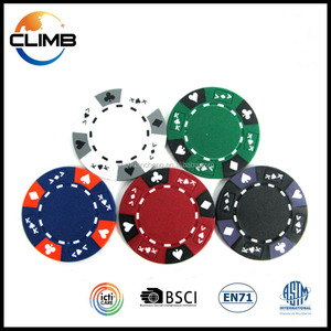 China Professional premium unique 14g clay AK suited 3-tone color casino customized logo printing antique poker game chips sale