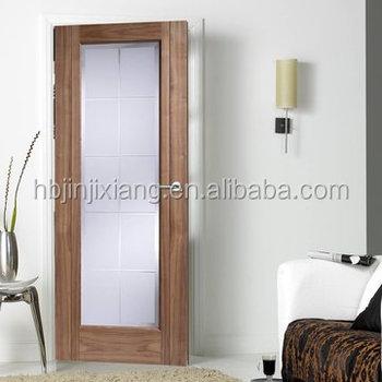 Black Walnut Veneered Solid Core Bathroom Glass Door Design Buy