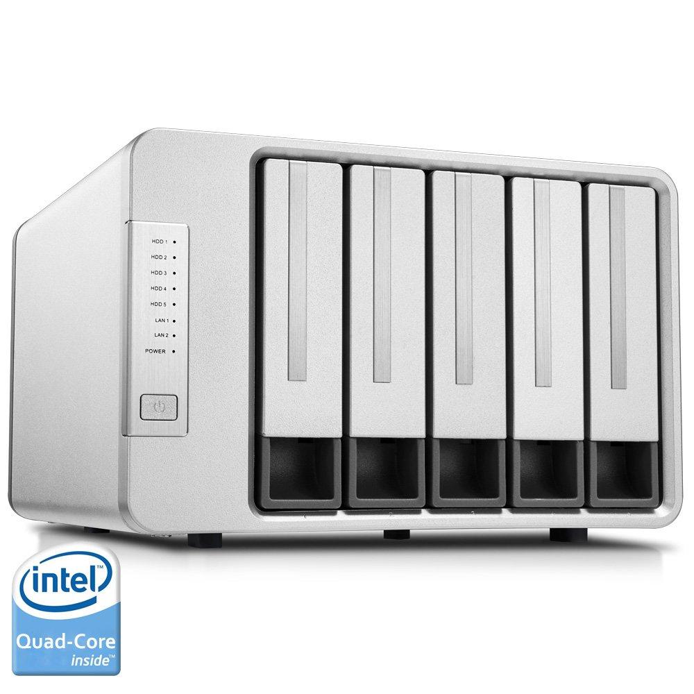 Noontec-TerraMaster F5-420 NAS Server 5-Bay Intel Quad Core 2.0GHz 2GB RAM Network RAID Storage for Small/Medium Business (Diskless)