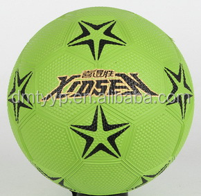 Xidsen,Qianxi Rubber pebble surface Football size 1#,mini football green color