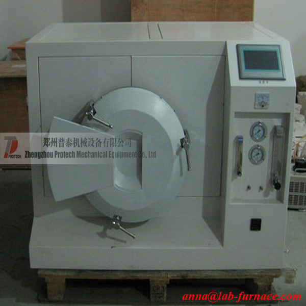 Microwave atmosphere furnace for Rare earth fluorescent materials synthesis / Sintering