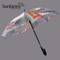 chinese imports wholesale 23''*8K automatic customized straight umbrella outdoor rain gear