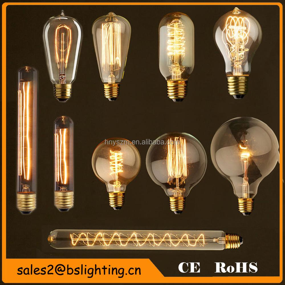 50pcs 40w Vintage Design Edison Filament B22 E27 Led Bulb: Spiral Edison Filament Light Bulbs Style St64,St57(st58