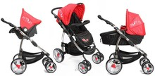 EN 1888 folding and light weight 3-in-1 travel system stroller