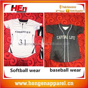76a9e9057 HongEn Apparel Top Customized softball jersey