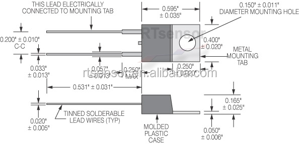 custom made ntc thermistor transistor outline package to