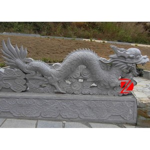 Superbe Stone Chinese Dragon Garden Statues