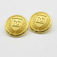 custom fancy metal gold military uniforms button