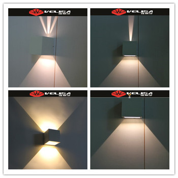 6 Outdoors Up Down Wall Light Square Cube Ajule Led Outdoor Cree Chips China Lamp View 6w High Warm White