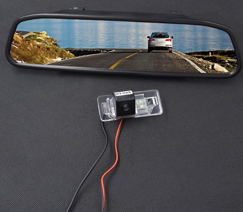 4 3 inch car rear view mirror monitor car reverse camera for bmw mini cooper. Black Bedroom Furniture Sets. Home Design Ideas