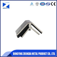 polished zinc alloy glass clamp and holder of building hardware