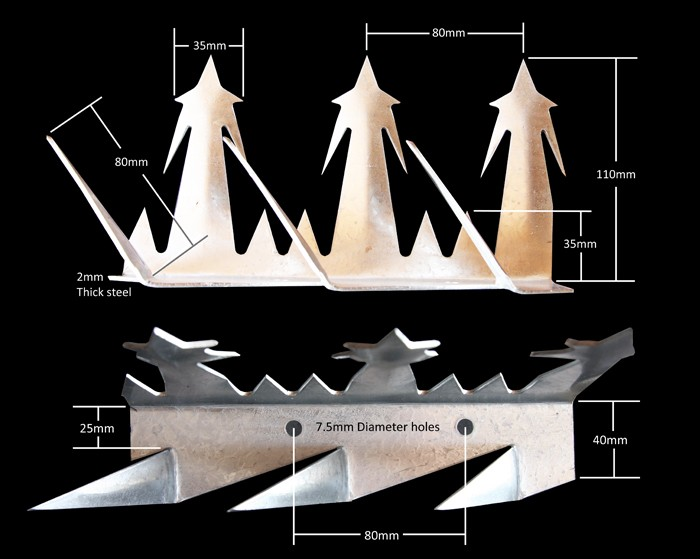 Stainless Steel Metal Fence Spikes Razor Spike Wall Spike