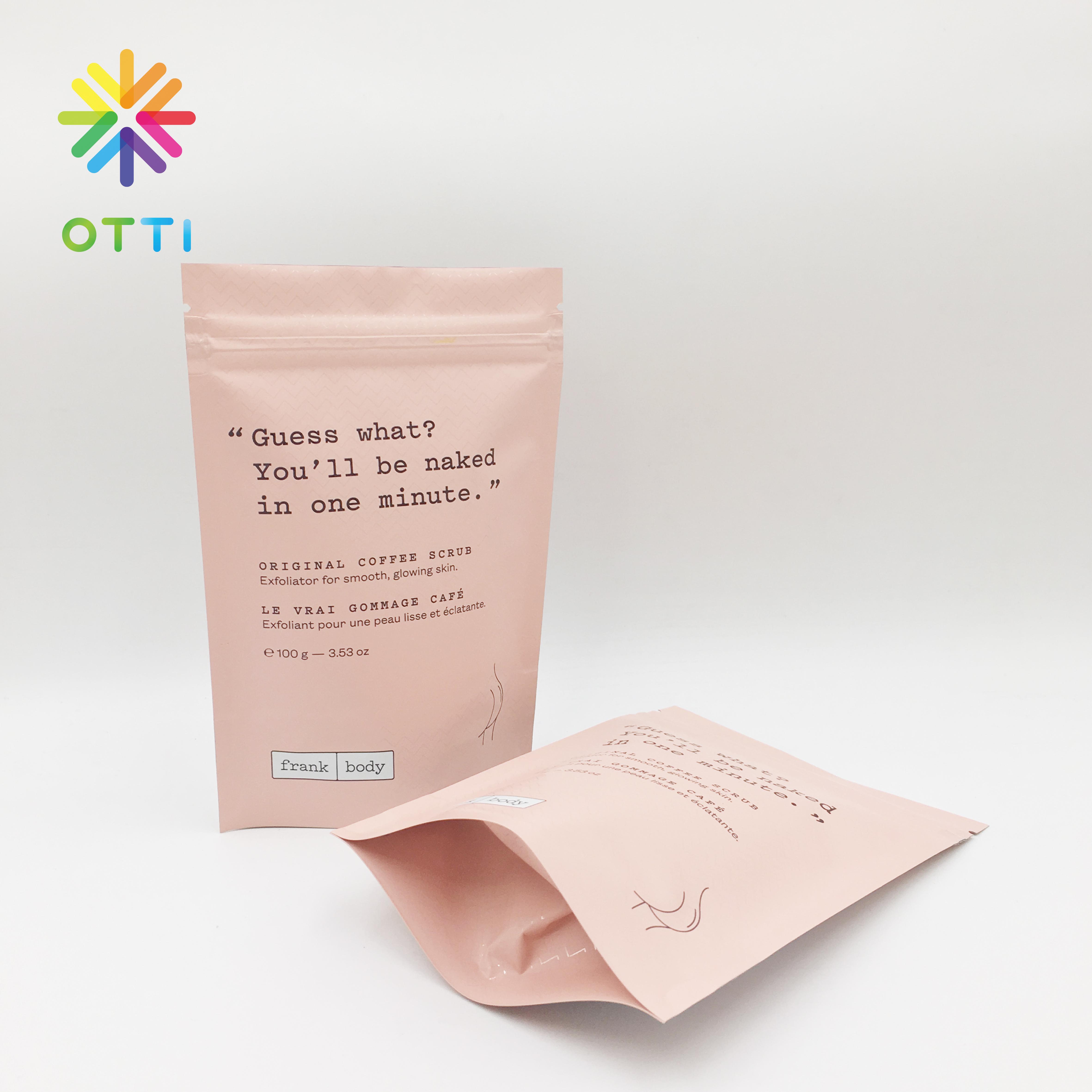 كيس قهوة عضوية عالي الجودة تغليف خاص كيس من البلاستيك مطبوع عليه