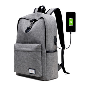 Factory wholesale cross-border usb charge backpack leisure travel bag college students outdoor shoulder bag