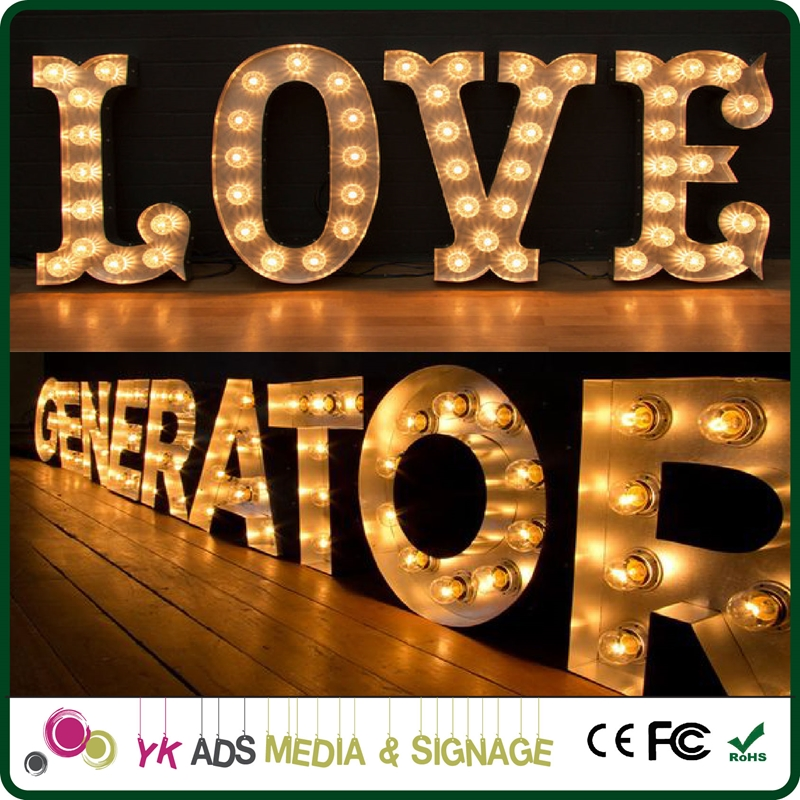 metal letters love Acrylic Led Letters