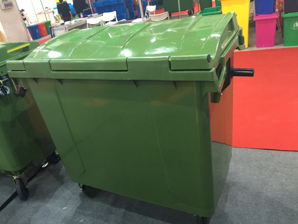 660L plastic dustbin/ waste bin/trash can with wheels