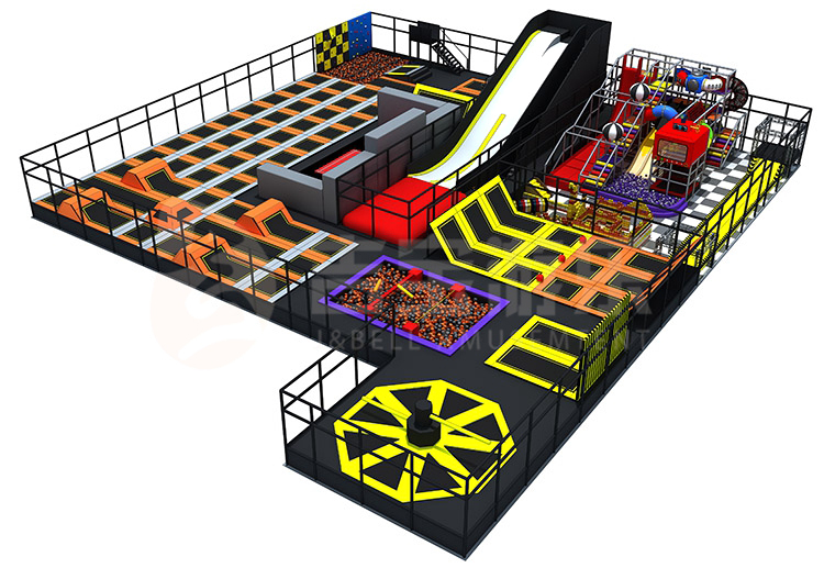Factory customized Unified design a best price adult durable rectangle trampolines park for sale