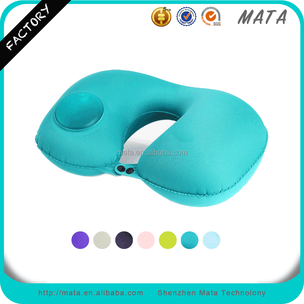 Wholesale Inflatable Flocking Travel Pillow