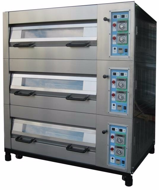 Commercial Automatic Bakery Machines Gas Deck Bread Oven Electric Pizza Oven
