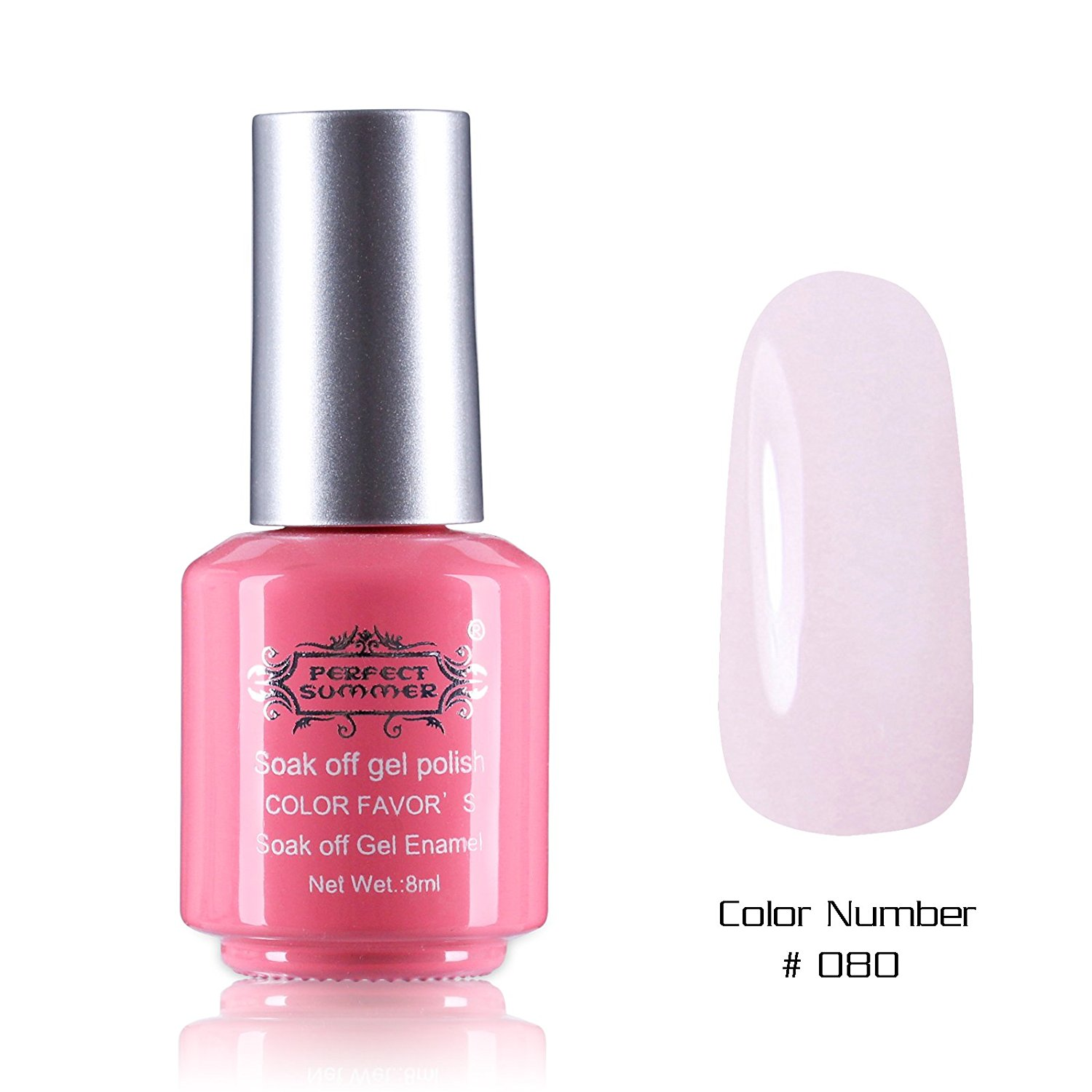 Perfect Summer Nails Painting Art Salon Decoration Gift 8ml Gel Nails Polish UV Led Light Soak Off Creative French Manicure Teens Nails Lacquers Varnish #80 nude pink