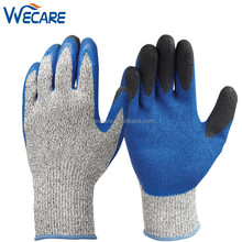 Double Crinke Latex Coating Strong Hand Protection HPPE Knitted Work Cut 5 Gloves