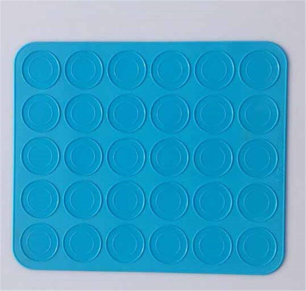 New Silicone Macaron Macaroon Pastry Oven Baking Mould Sheet Mat 30-Cavity DIY Mold Baking Mat SkyBlue