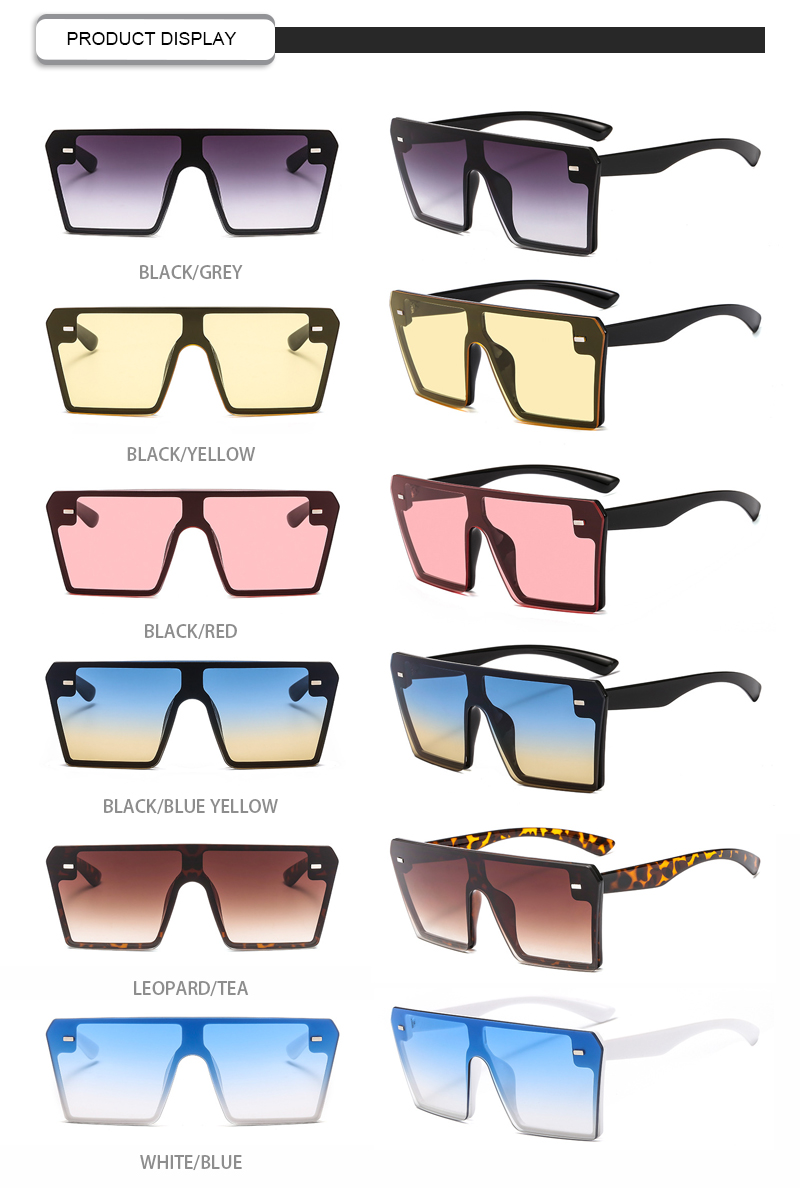 Ready Stock Big Plastic Material Frame Retro Custom Logo Women Eyewear