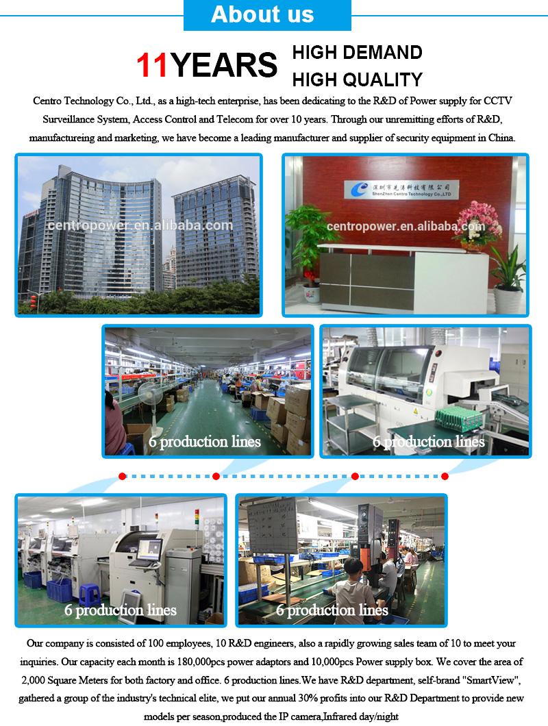 Online Pazar Shenzhen Üretici UPS Güç Kaynağı DC 12 V 10A 18CH Kesintisiz Güç Kaynağı UPS