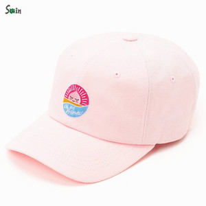 83735e751 Adjustable sunday buckle back women embroidered custom hat dad with printed  inside stripes