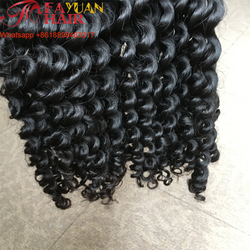 The best selling curly human hair raw indian hair unprocessed virgin cuticle aligned hair from india