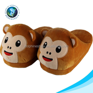 23a2ff3a6098 Emoji Monkey Slippers