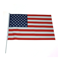 Customized handheld american us flags for sale