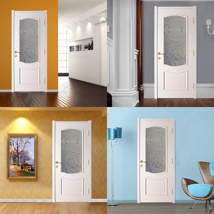 vente chaude int rieur portes avec moiti givr verre blanc peinture salle de douche porte. Black Bedroom Furniture Sets. Home Design Ideas