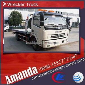 Dongfeng tow trucks sale, 6 wheels tow truck wheel lift, 6-8 ton wheel lift towing truck for sale