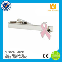 Wholesale ribbon souvenir custom men's jewelry tie clips