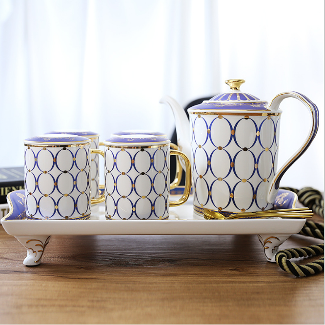 Blue Nordic Ceramic <strong>Coffee</strong> and Tea Set