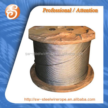 6x26ws+pp H.d. Galv. Cable Steel Wire Rope Zinca Grade A Drawn ...