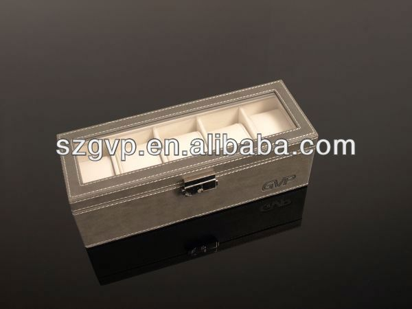 aluminum special design acrylic rotating watch display case