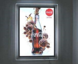 New alibaba high brightness slim led light box display for exhibition and advertising with CE certificate