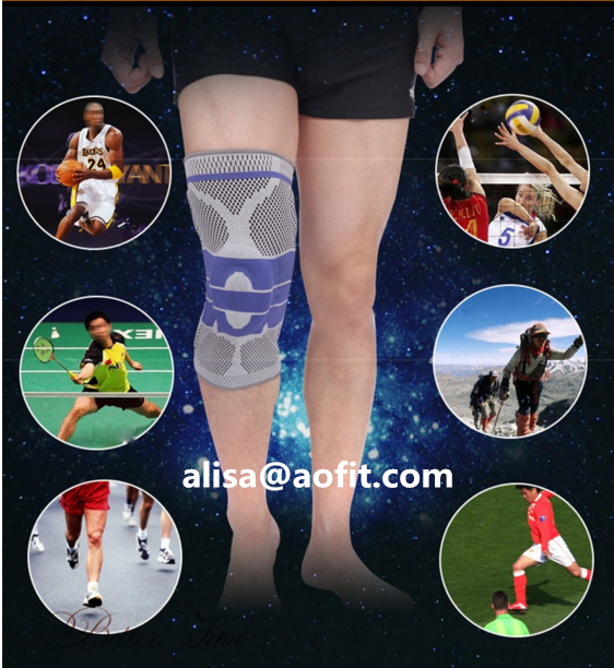 2017 New Classic2017 New Classic Elastic silicone Knee Support brace breathable Non-slip breathable Non-slip knee pad for sports