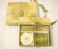 Glass Jar Scented Candle /Olive-Green Color Candles