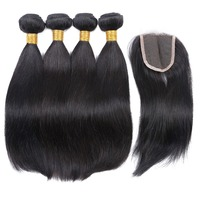 Hair factory direct supply brazilian hair online 8a grade Brazilian hair straight with closure