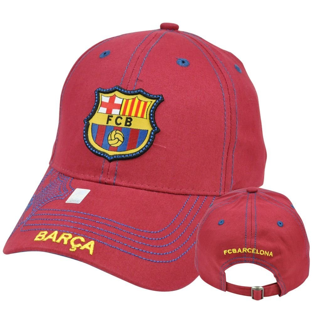 296768d1947 Get Quotations · Rhinox FC Barcelona FCB Barca Gorra C1E08 Spain Espana  Stitches Hat Cap Soccer