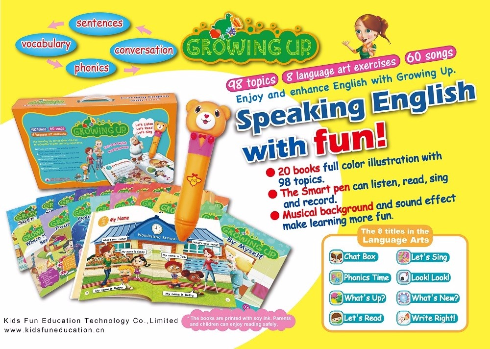 2017 Latest Children Talking English Pen Sound Books ...