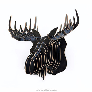 e529d96db5c8 Hot sale wooden wall animal head sculpture