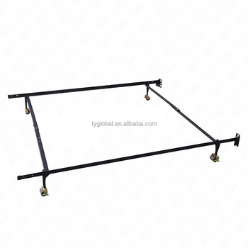 New Low Price Adjustable Queen Full Twin Size Platform Bed Heavy Duty Metal Bed Frame with Wheel