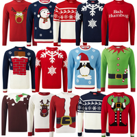 Mens Christmas Novelty Knitted Top New Christmas Sweater